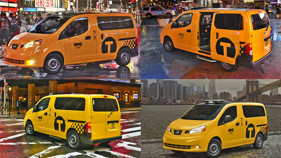 New Nissan NV200 New York City Taxi